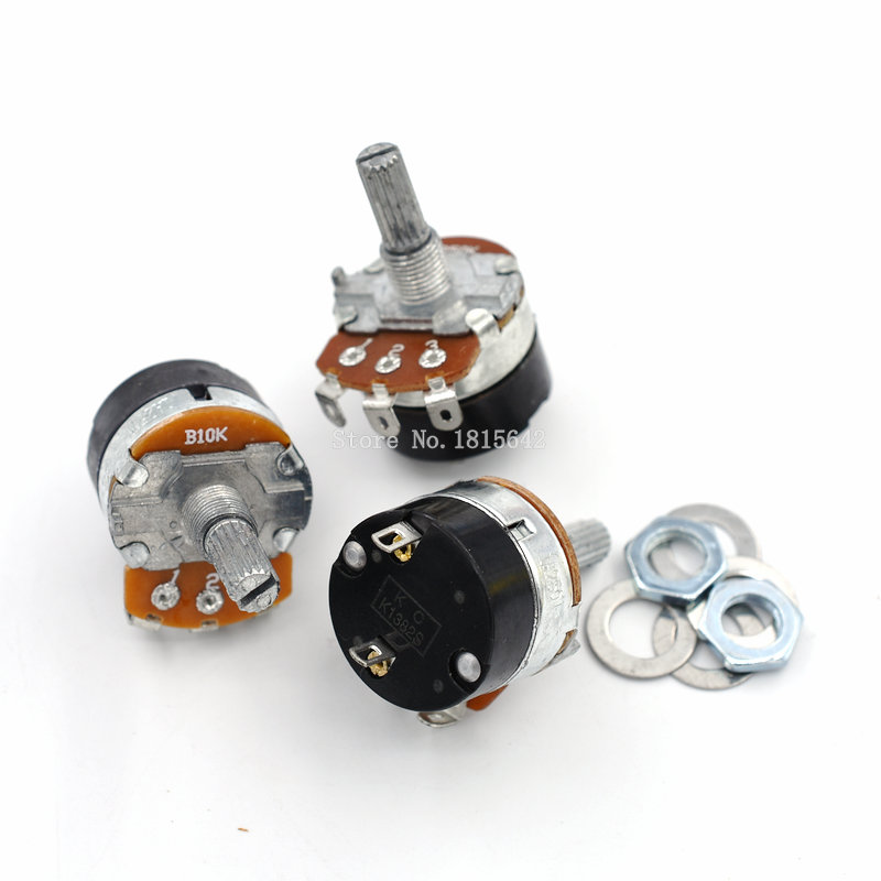 5PCS/LOT WH138-1 B10K Adjustable Resistance Speed Regulator With Switch Potentiometer WH138 10K