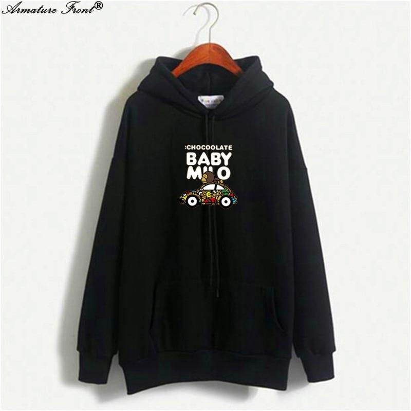 Hoodies & Sweatshirts Amicable Cartoon Monkey Letter Car Print Bts Sweatshirts Autumn 2019 Spring Coat Women Couple Hoodies Harajuku Tops Black Streetwear X129 Fine Quality