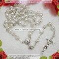 O envio gratuito de 5 pc/pacote 6mm de vidro imitação de pérolas talão rosario, pérola do rosário n1326 com centro cálice special offer