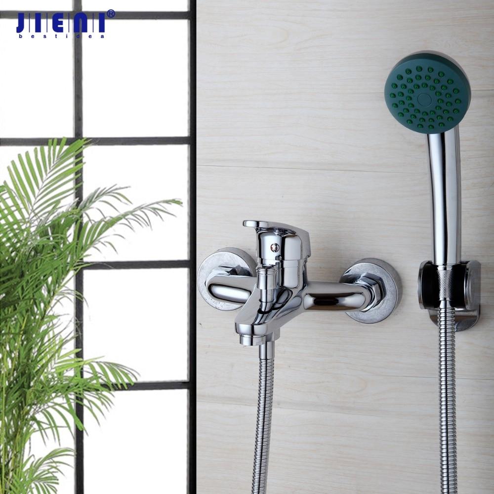 Bathroom Shower Faucet Bath Faucet Mixer Tap With Hand Shower Head Shower Faucet Set Wall Mounted bakala brass bath black faucets wall mounted bathroom basin mixer tap crane with hand shower head bath