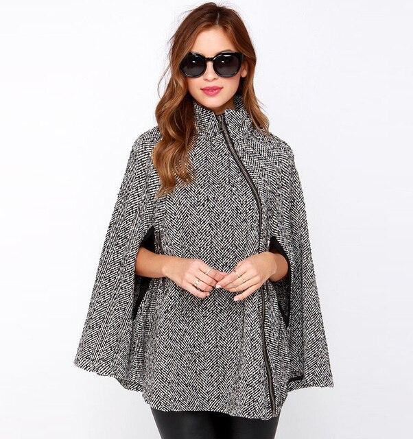 Casaco sobretudo feminino зима женщины пальто abrigos mujer пончо feminino inverno 2016 манто роковая женщина пальто Шерсть