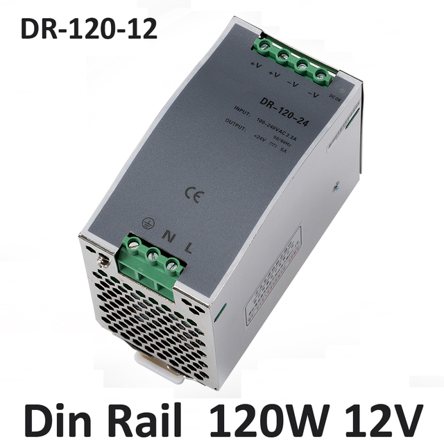 10a 12V 120w din rail power supply Stable DC voltage source 12v ...