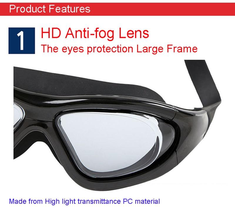 Professional Diopter Myopia Silicone Swimming Goggles Anti-Fog Waterproof With Earplugs 16