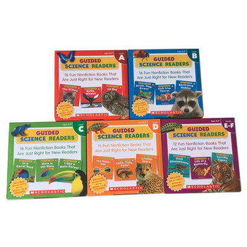 New Arrival 5box English Scholastic Guided Science Readers ACDEF Let students learn a variety of interesting animal knowledge