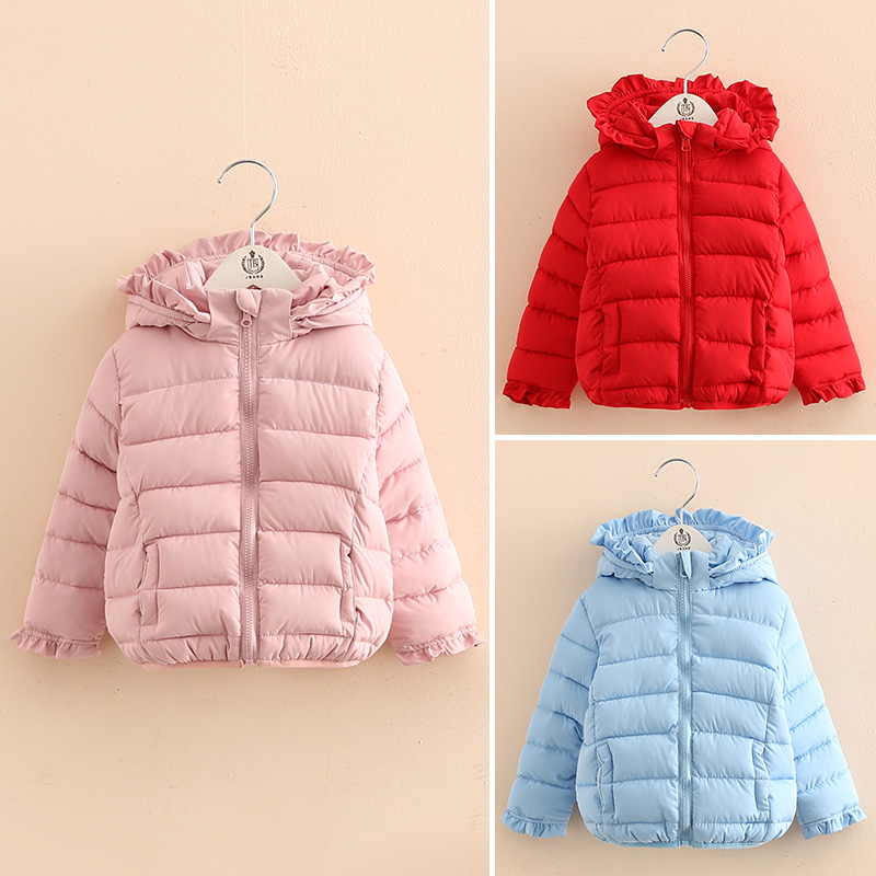 Baby girl winter jacket 2017 child thickening cotton-padded jacket Baby coat outerwear children's clothing russia 2016 children outerwear baby girl winter wadded jacket girl warm thickening parkas kids fashion cotton padded coat jacket