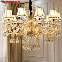 Moderna lámpara de araña de cristal de lujo para sala de estar, Lámpara decorativa para el hogar