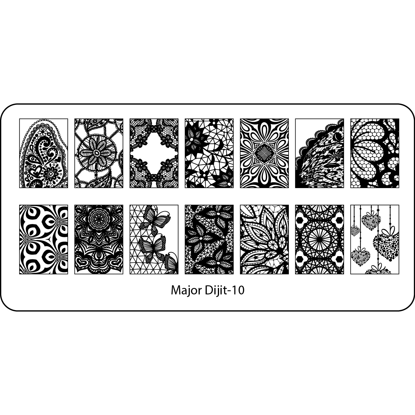 6*12cm Nail Art Stamp Template Image Plate Stamping Plates Nail ...