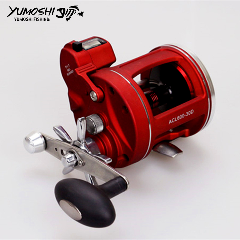 Right and Left Hand Trolling Fishing Reel Boat Reel With Electric Power Line Counting Multiplier Reel Drum Fishing Reel