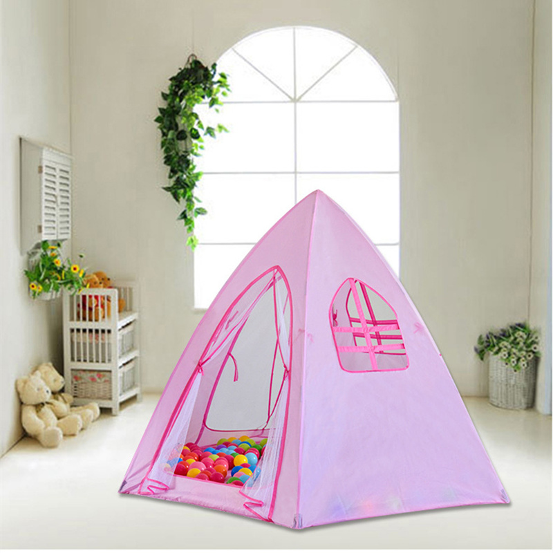 цена на 6 Angle Outdoor Baby Tent Indoor Children's Play House Tent Mesh+Polyester with Glass Fiber Rods Baby Children's Camping Tents