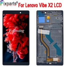 For Lenovo Vibe X2 LCD Display Touch Screen Digitizer Assembly 100% Tested LCD With Frame Replacement For Lenovo X2 Display for lenovo a536 lcd display with touch screen digitizer frame assembly black by free shipping 100