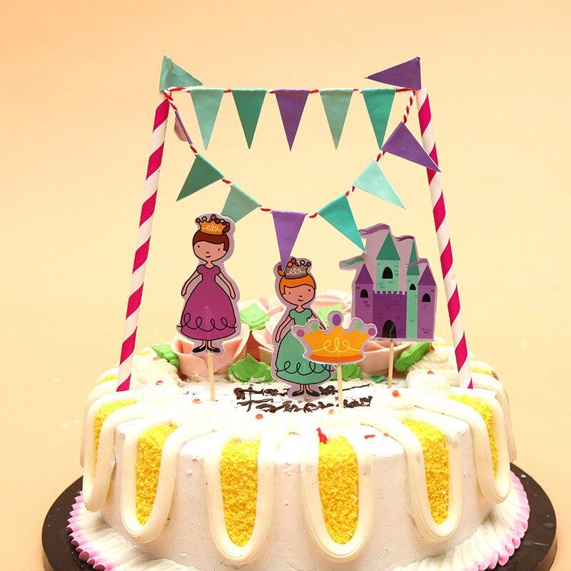 Princess Pirate Dinosaur Robot Rocket Mermaid Theme Cake Topper ...