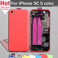 for iPhone 5c Back Housing Assembly Full Housing Battery Cover Case Replacement 5 Colors with Free Tools