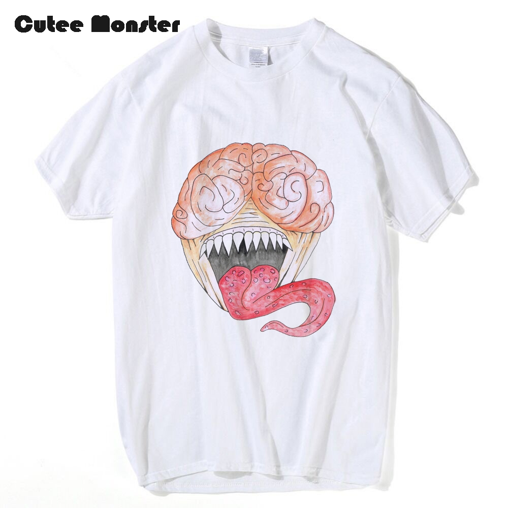 Japanese Video Game Resident Evil Licker T shirt Men Fashion Hip Hop Zombie T-shirt Women Short Sleeve Funny Cartoon Top Tees