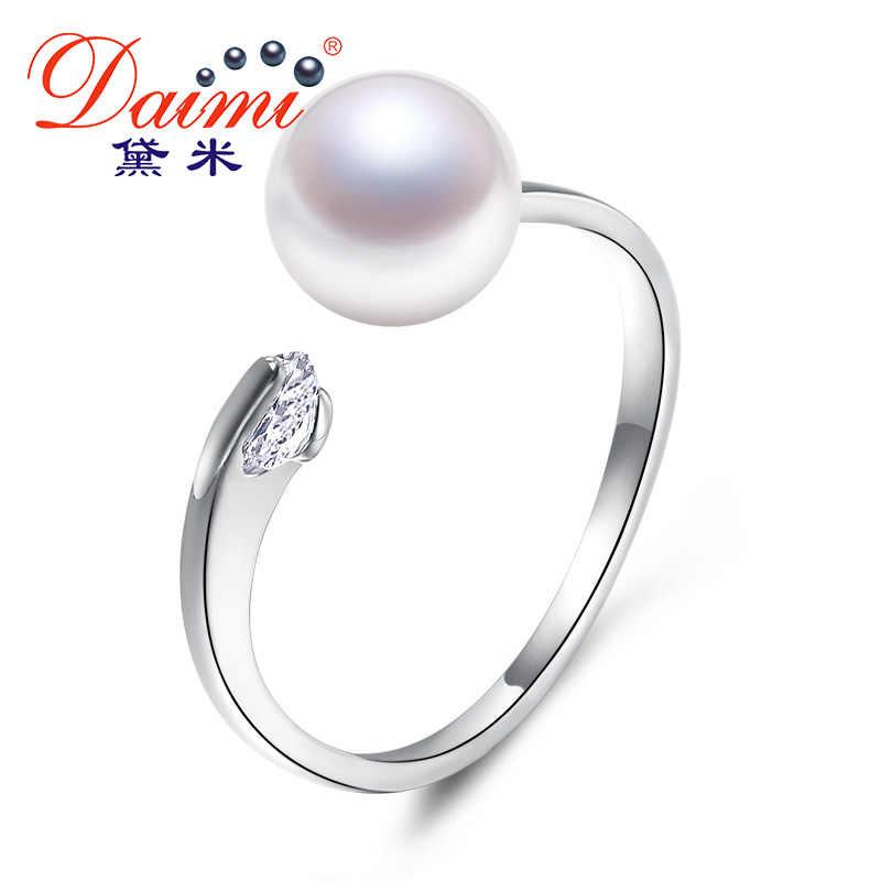 DMRFP075 7-8MM Pink Freshwater Pearl Ring Natural Pearl Ring