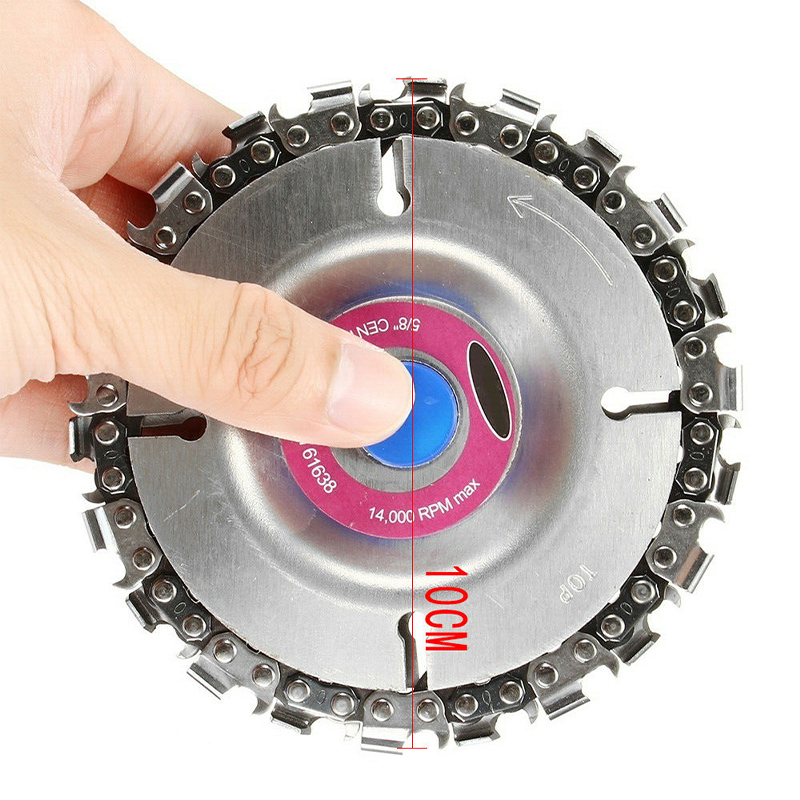 Wheels Cup Grinding Disc Equipment Replacement Carving Alloy Silver W/ Chain Cutting Abrasive Angle Cut Chainsaw