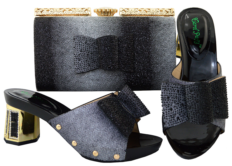 Фотография Shoes and Bag To Maching Italian Design Shoe and Bag Set For Party Nigerian Women Fashion Shoe and Bag Set  BL004