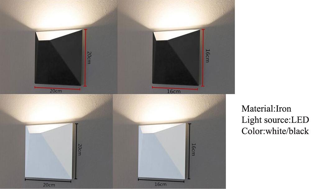 HTB1aPg5hHsTMeJjy1zbq6AhlVXaH - LED Modern Geometric Iron Acryl Black White DIY Magic Box LED Lamp LED Light Wall lamp Wall Light Wall Sconce For Store Bedroom