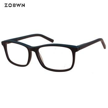 f9d70d9fbb Marco de gafas de moda ZOBWN para hombres y mujeres gafas negras de vidrio  liso gafas de seguridad Vintage gafas de mujer monturas de color sólido