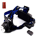 CREE XM-L T6 XML 2000LM Head Lamp LED Headlamp Headlight Flashlight Lantern Torch lampe frontal + 18650 Battery AC Car Charger