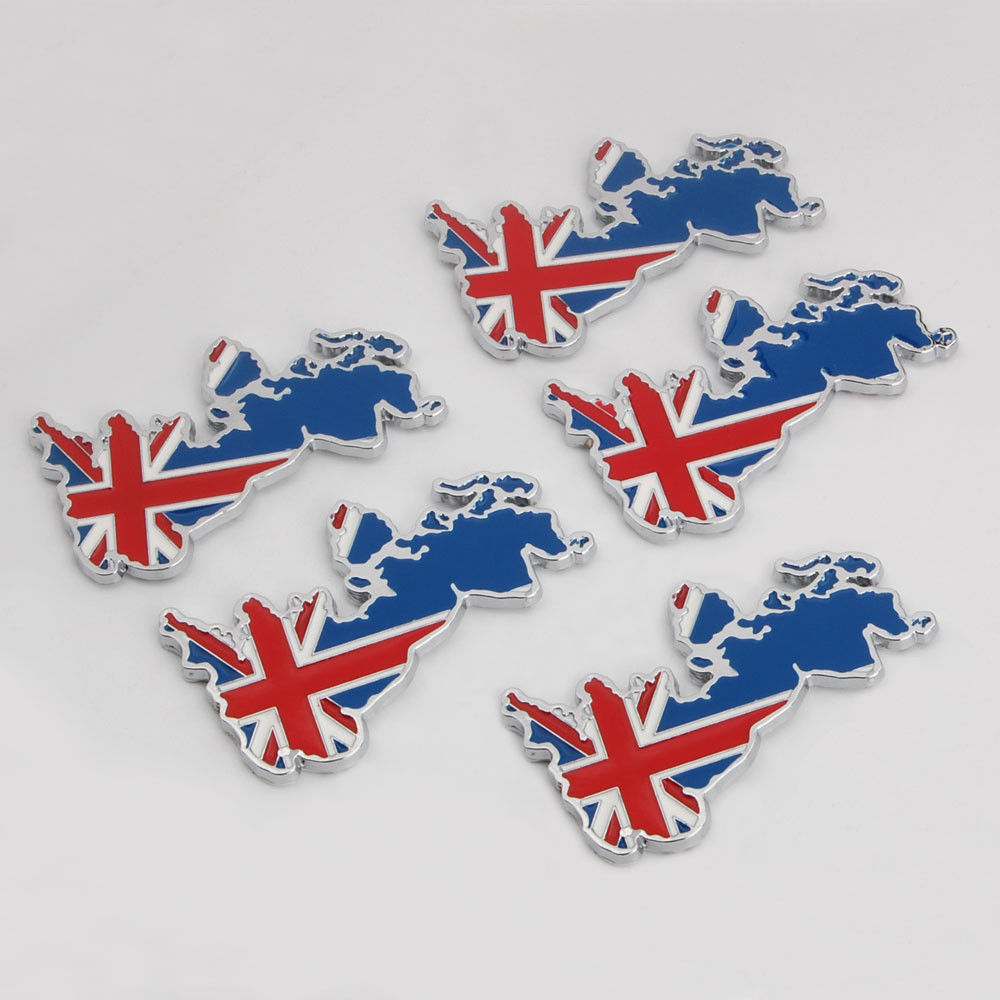 5pcs/lot Car sticker Metal UK Britain England Flag Symbol Fender Emblem Badge Sticker Decals Car styling for ford focus 2 bmw x3 car decals for ford focus 2017 new personality car sticker funny diy decal sticker car styling 2 color 2 pcs car accessories
