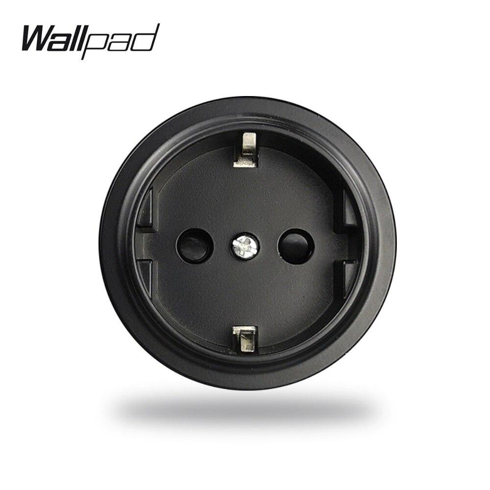 L6 Black White EU Schuko Wall Electrical Power Socket Modular DIY Free Combination