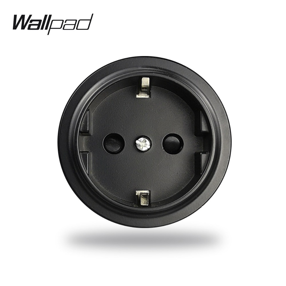 L6 Black White Grey Gold EU Schuko Wall Electrical Power Socket Modular DIY Free Combination