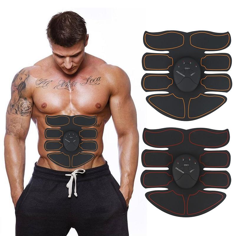 Nuovo EMS Stimolatore Muscolare Addominale Ginnico Trainer Smart ABS Fitness Gym ABS Adesivi Pad Perdita Del Corpo Che Dimagrisce Massager Unisex