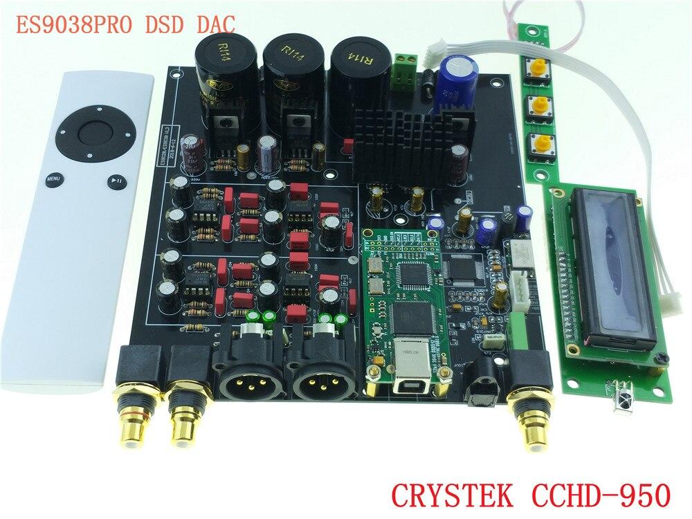 Upgrade Zu Crystek Cchd-950 Fernbedienung Amanero Usb Nachfrage üBer Dem Angebot Professioneller Verkauf Es9038 Es9038pro Hifi Audio Dac Decoder Montiert Bord