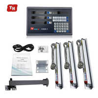 high precision level measuring instrument complete 3 axis dro set/kit with 3 pcs 1u linear glass scales for mill/lathe machine