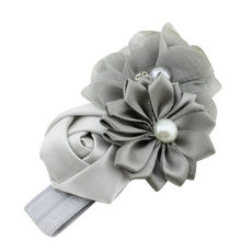 Baby Girl Flower Pearl Flower Hair Band Headband Hairband Hair Accessories cotton hair Baby Headwear photography(China)