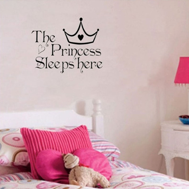 Bon Princess Home Decoration Removable Wall Sticker Girls Bedroom Decor Baby  Room Decal Art