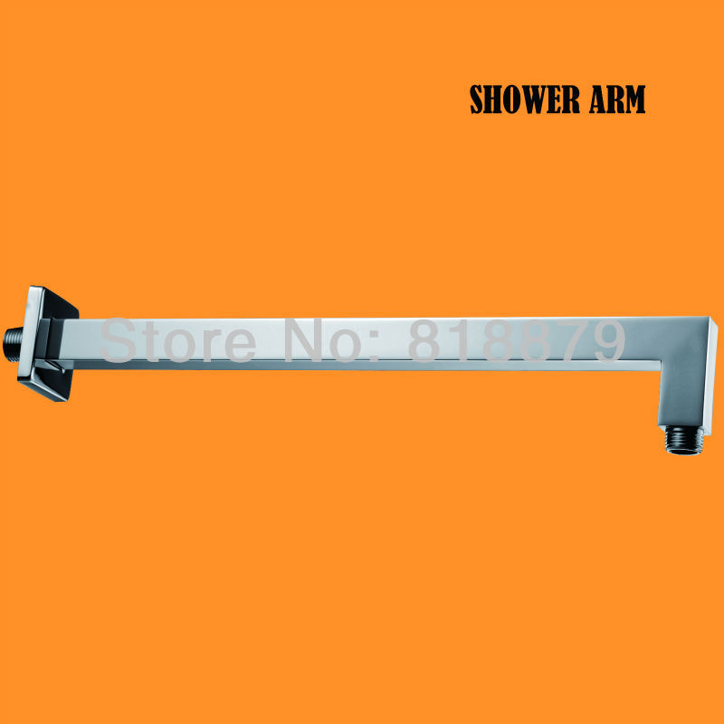 400mm square copper shower arm brass shower head holder wall shower pipe bathroom shower set 8 bathroom copper colorful square top shower head silver