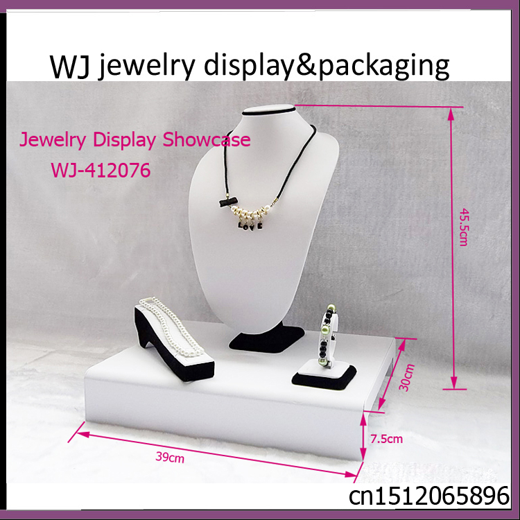 Exquisite Original Wooden Jewelry Display Counter For Ring Bracelet Necklace Pendant Stand Holder Model Mixed Jewellery Showcase