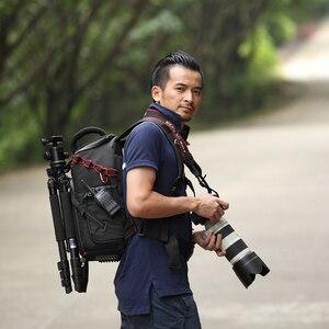 Image 5 - Jealiot SLR сумка для фотоаппарата рюкзак для фотоаппарата фоторюкзак чехол для линз сумки сумка для камеры Рюкзак DSLR цифровой 14 дюймов ноутбук фотография штатив дождевик объектив противоударный водонепроницаемый