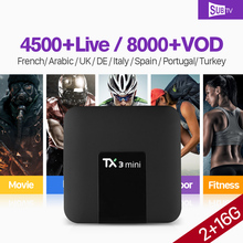 TX3 mini France Arabic IPTV Android 71 TV Box with SUBTV IPTV Subscription 1 year France Arabic Belgium Portugal Turkey IP TV
