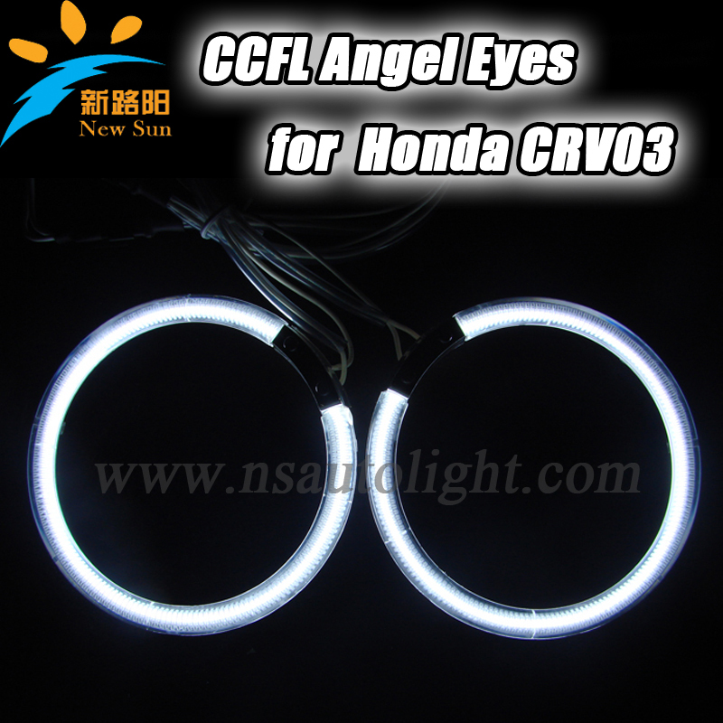 CCFL angelic eyes rings for Honda CRV03 car super bright  CCFL angel eye headlight halo ring kits with 2 drivers free shipping for honda odyssey 4th g rb3 rb4 chassis 2008 present excellent ultrabright headlight illumination ccfl angel eyes kit halo ring