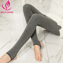 BellFlower Winter Women  Warm Leggings Milk Cotton Slim Leggings Single Cashmere Foot Wear Elastic Pants Female Winter Leggings