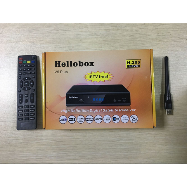 US $38 0 |Hellobox V5 plus receiver open 8W HEVC/H 265 channels-in Radio &  TV Broadcast Equipments from Consumer Electronics on Aliexpress com |