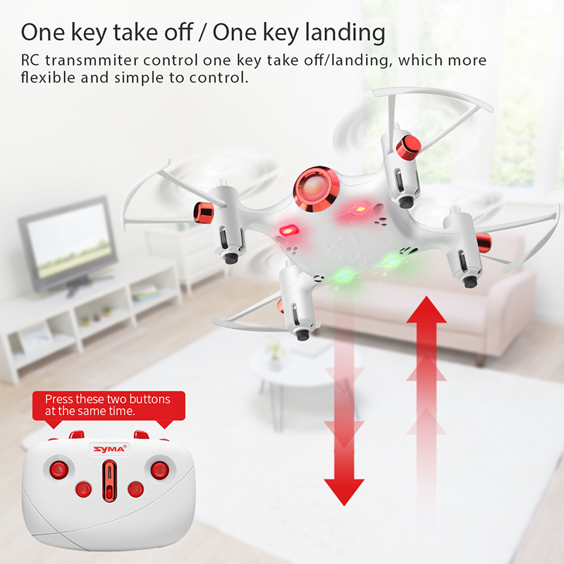 Image 5 - Original Syma X20 2.4G 4CH Gyro Pocket Drone  Quacopter With Headless Mode Altitude Hold 3D flip RC Aircraft Children Toys Gift-in RC Helicopters from Toys & Hobbies