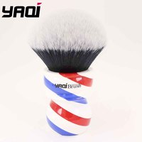 Yaqi 75mm Monster Tuxedo Shaving Brush With Barberpole Handle