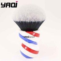 Yaqi 75mm Monster Tuxedo Shaving Brush With Barberpole Handle