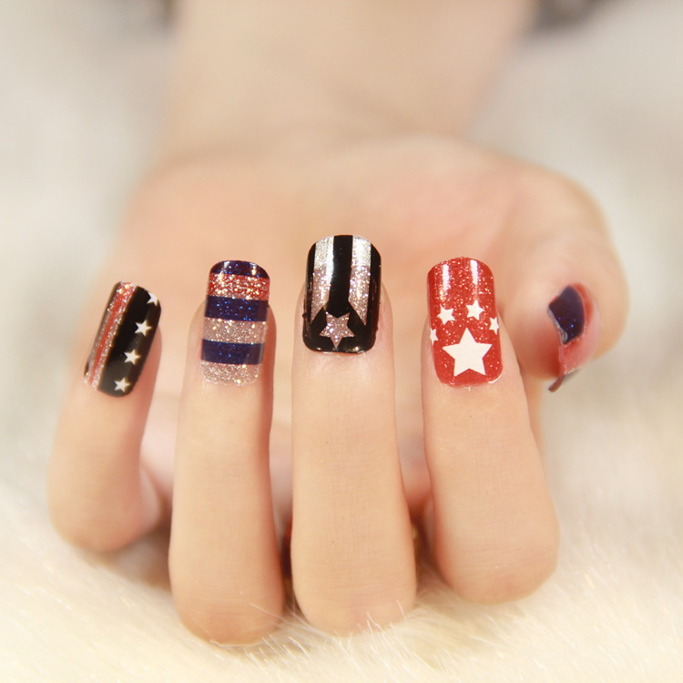 $1 new 8 designs 2014 fashion nails art stickers DIY decorations ...