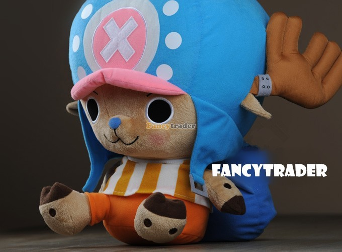 Fancytrader 16\'\' 40cm Copyrighted  Plush Stuffed Tony Tony Chopper with schoolbag & Towel FT90425 (1)
