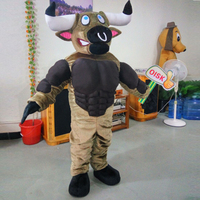 ohlees real actural picture Strong Bull Toro mascot costumes performance props apparel halloween outfit dress Adult Size
