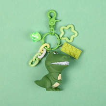 2019 Hot Sale Cute Cartoon Keychain Little Dinosaur Animal PVC Keychains Women Bag Charm Key Ring Pendant Gifts