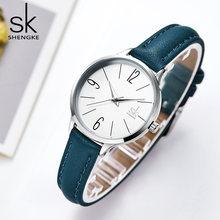 Часы наручные shengke женские кварцевые брендовые Роскошные
