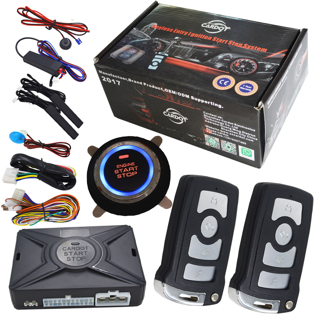 Remote Starter Car Security Alarm System With Engine Start Stop