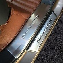 4 шт. Нержавеющая сталь порога Накладка педали аксессуары Подходит для 2013 HYUNDAI SANTA FE SANTAFE IX45