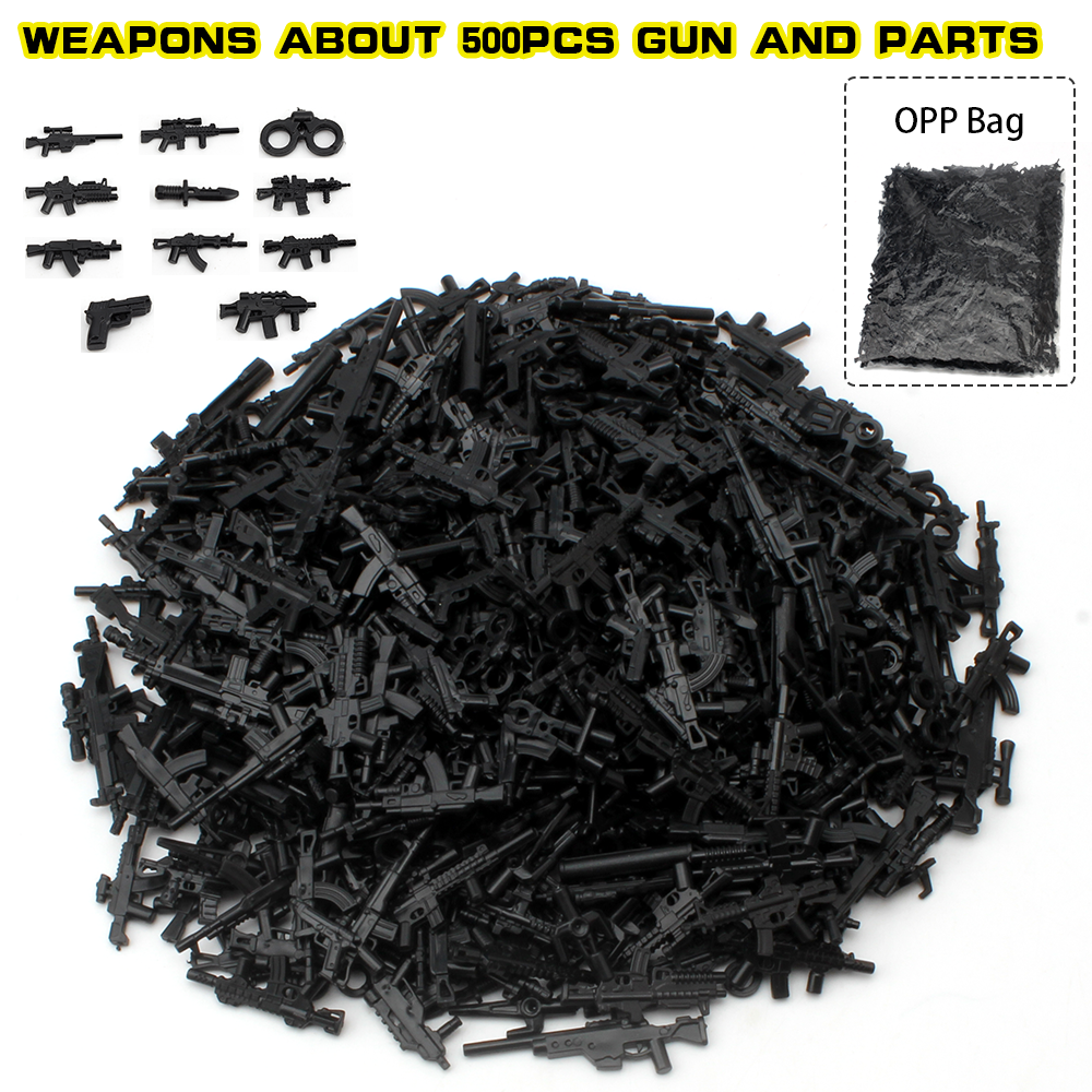 Kaygoo DIY Military Swat Police Gun Weapons Pack Army soldiers font b building b font blocks