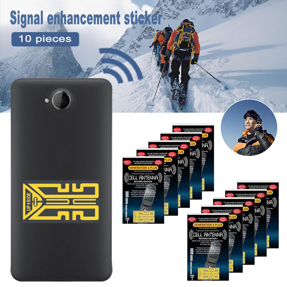 10 pièces extérieur téléphone portable amélioration du Signal de téléphone portable Gen X antenne Booster externe améliorer les autocollants de Signal outils de Camping